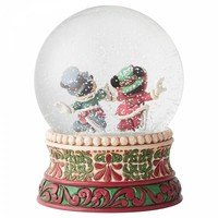 Disney Traditions - Splendid Skaters (Victorian Mickey & Minnie Mouse Waterball)