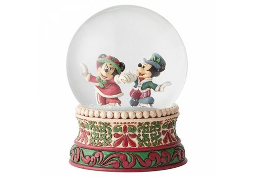 Disney Traditions Splendid Skaters (Victorian Mickey & Minnie Mouse Waterball) - Disney Traditions