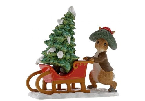 Beatrix Potter Benjamin Bunny Preparing for Christmas