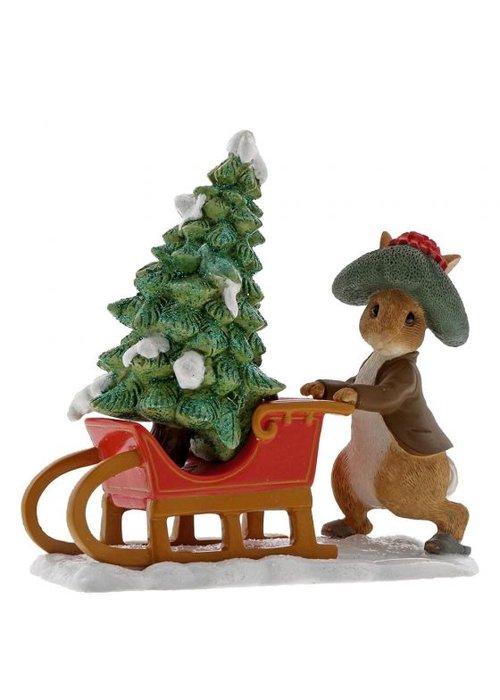 Beatrix Potter Benjamin Bunny Preparing for Christmas