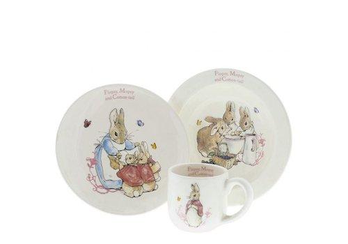 Beatrix Potter Flopsy, Mopsy & Cotton-tail Three-Piece Nursery Set - Beatrix Potter