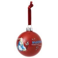 Beatrix Potter - Mrs. Rabbit & Peter Rabbit Merry Christmas Bauble