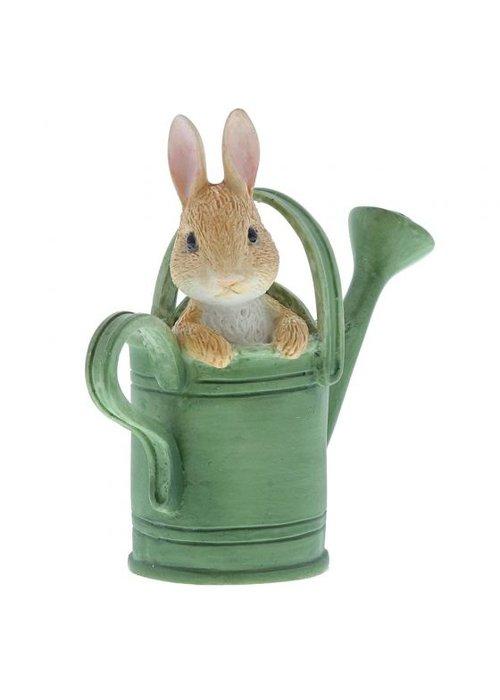 Beatrix Potter Peter in Watering Can Mini Figurine
