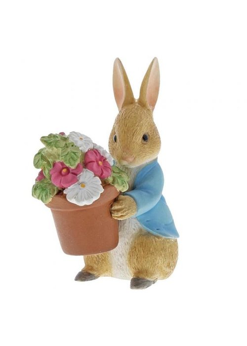 Beatrix Potter Peter Rabbit Brings Flowers