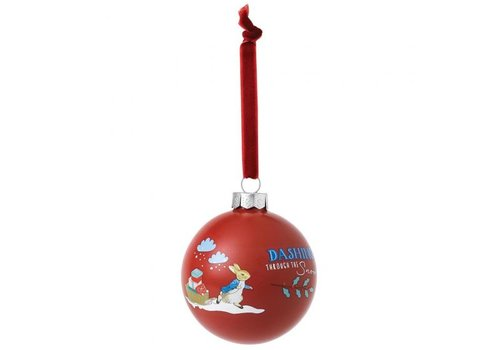 Beatrix Potter Peter Rabbit Merry Christmas Bauble