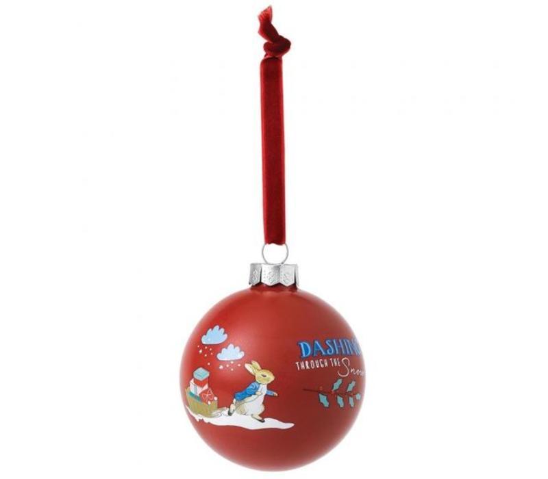 Beatrix Potter - Peter Rabbit Merry Christmas Bauble