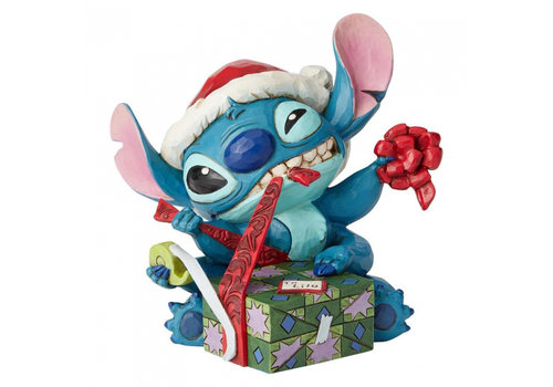 Disney Traditions Bad Wrap (Stitch with Santa Hat)