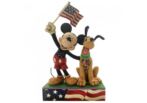 Disney Traditions A Banner Day (Mickey and Pluto) - Disney Traditions