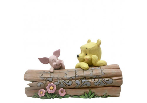 Disney Traditions Pooh and Piglet on a Log - Disney Traditions
