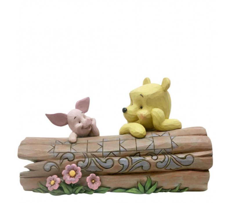 Disney Traditions - Pooh and Piglet on a Log