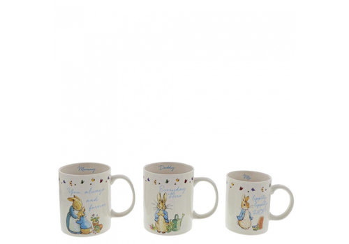 Beatrix Potter Peter Rabbit Mummy, Daddy & Me Mug Gift Set