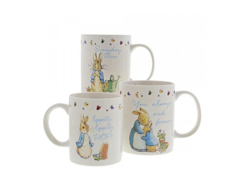 Beatrix Potter Peter Rabbit Mummy, Daddy & Me Mug Gift Set - Beatrix Potter