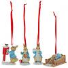 Beatrix Potter Beatrix Potter - Peter Rabbit Set of 4 Hanging Ornaments