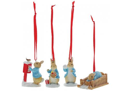 Beatrix Potter Peter Rabbit Set of 4 Hanging Ornaments - Beatrix Potter