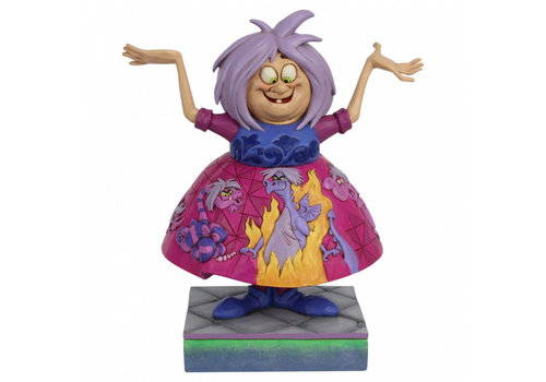Disney Traditions Madam Mim with Sword in the Stone scene - Disney Traditions