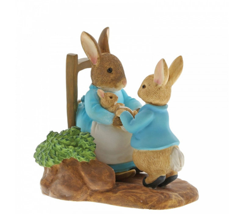 Beatrix Potter - At Home by the Fire with Mummy Rabbit
