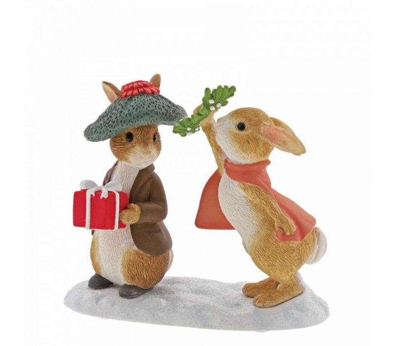 Beatrix Potter - Flopsy and Benjamin Bunny Under the Misteltoe