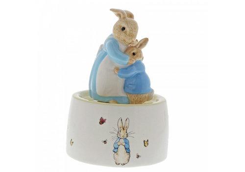 Beatrix Potter Mrs. Rabbit and Peter Ceramic Musical
