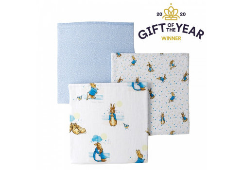 Beatrix Potter Peter Rabbit Baby Collection Muslin Squares (set of 3)