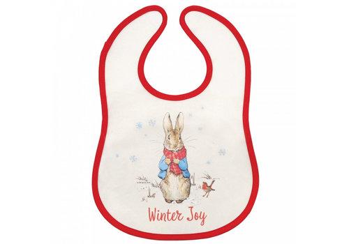 Beatrix Potter Peter Rabbit Christmas Bib - Beatrix Potter