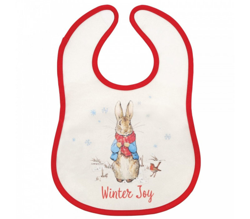Beatrix Potter - Peter Rabbit Christmas Bib