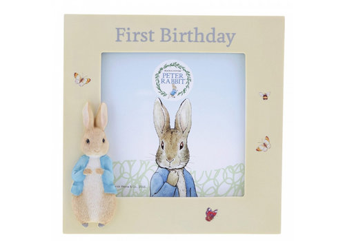 Beatrix Potter Peter Rabbit First Birthday Photo Frame
