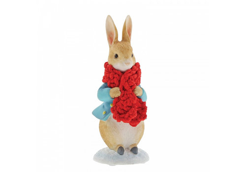 Beatrix Potter Peter Rabbit in a Festive Scarf