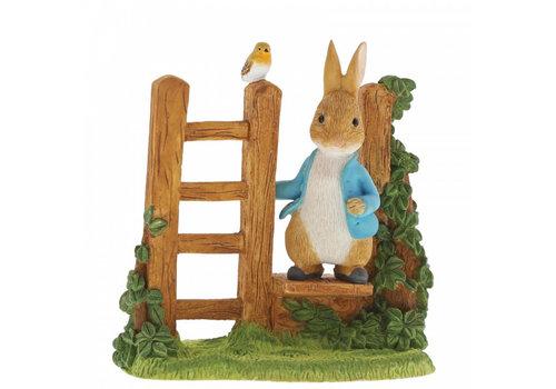 Beatrix Potter Peter Rabbit on Wooden Stile - Beatrix Potter