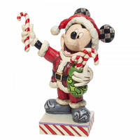 Mickey Mouse with Candy Canes - Disney Traditions