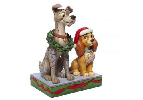 Disney Traditions Decked out Dogs (Lady and the Tramp) - Disney Traditions