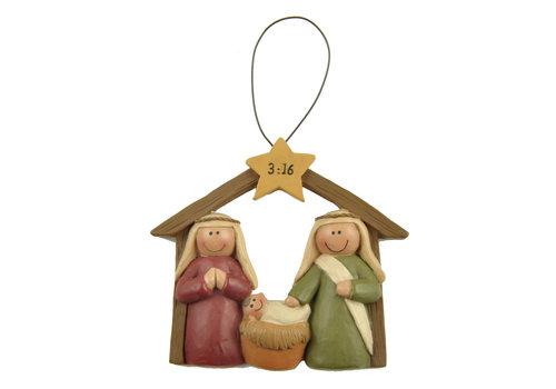 UniekCadeau Nativity 3:16 (Hanging ornament) - UniekCadeau