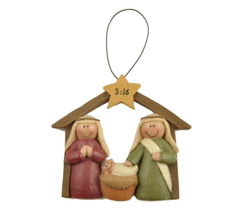 UniekCadeau - Nativity 3:16 (Hanging ornament)