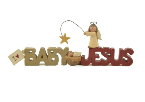 UniekCadeau I love baby Jesus (Nativity with angel) - UniekCadeau