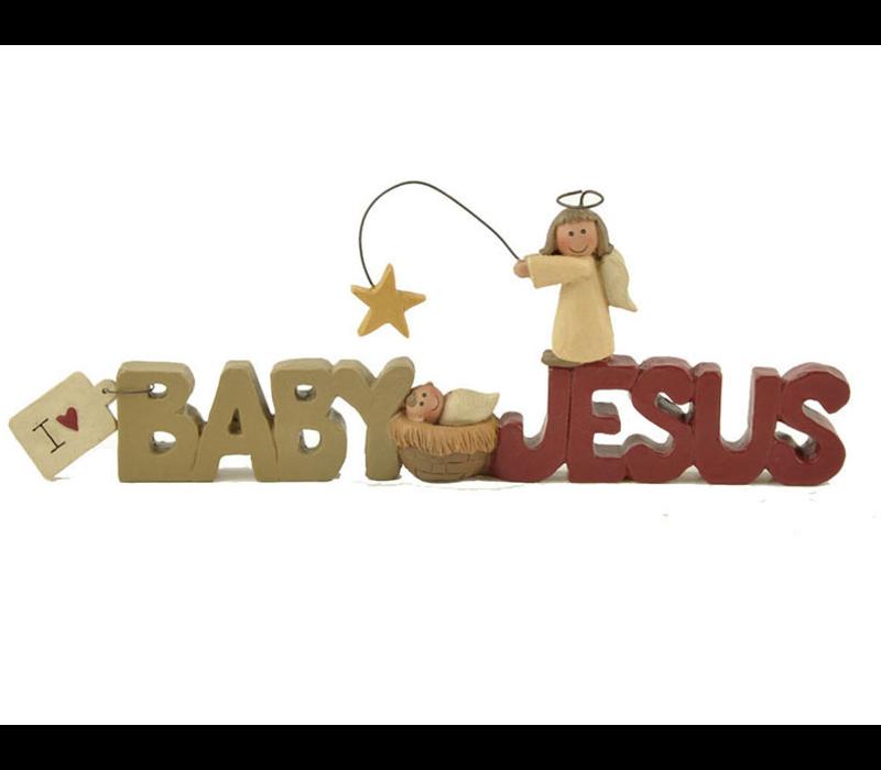 UniekCadeau - I love baby Jesus (Nativity with angel)