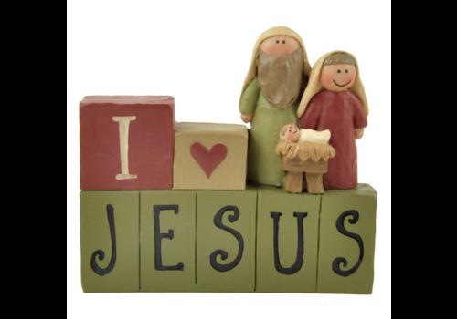 UniekCadeau I love Jesus (Nativity) - UniekCadeau