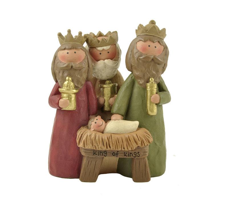 UniekCadeau - King of Kings (Jesus with Three Wisemen)