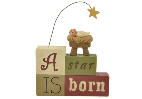 UniekCadeau A Star is Born (Nativity with star) - UniekCadeau