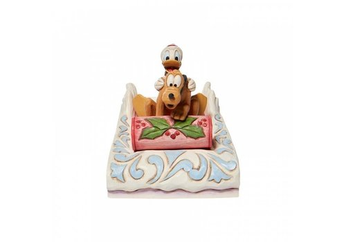 Disney Traditions A Friendly Race (Donald & Pluto Sledding) - Disney Traditions