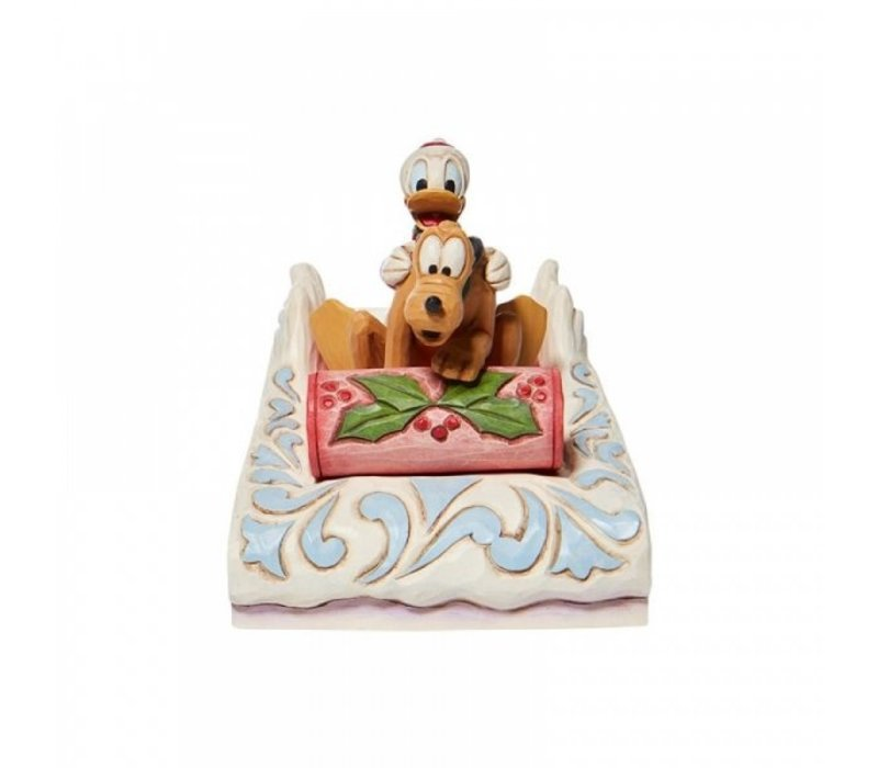 Disney Traditions - A Friendly Race (Donald & Pluto Sledding)