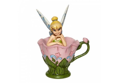 Disney Traditions A Spot of Tink (Tinkerbell Sitting in a Flower) - Disney Traditions