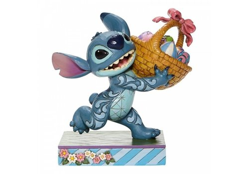 Disney Traditions Bizarre Bunny (Stitch Running off with Easter Basket) - Disney Traditions