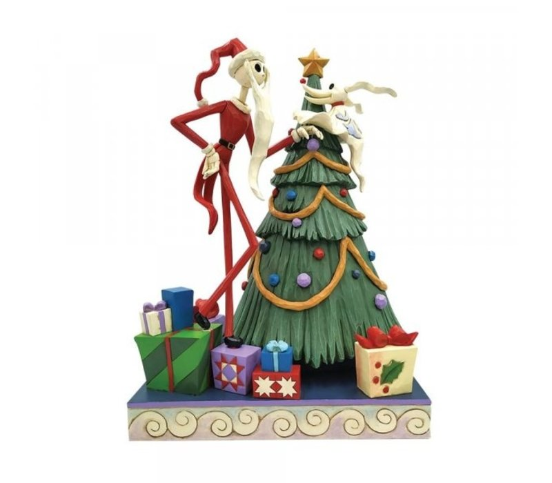 Disney Traditions - Decking the Halls (Santa Jack with Zero by Tree)