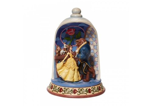 Disney Traditions Enchanted Love (Beauty and the Beast Rose Dome) - Disney Traditions