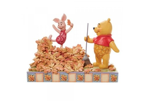 Disney Traditions Jumping into Fall (Piglet and Pooh Autumn Leaves) - Disney Traditions