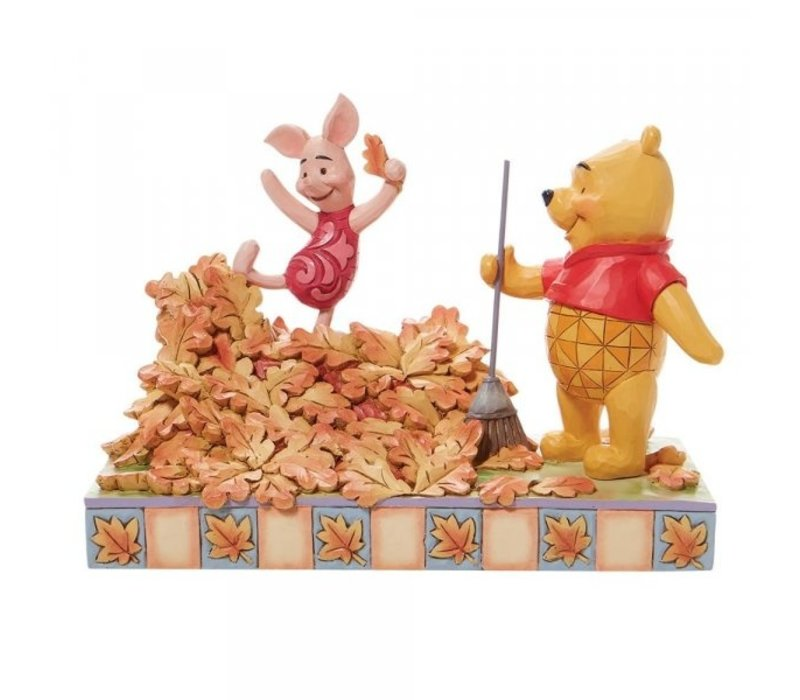 Disney Traditions - Jumping into Fall (Piglet and Pooh Autumn Leaves)