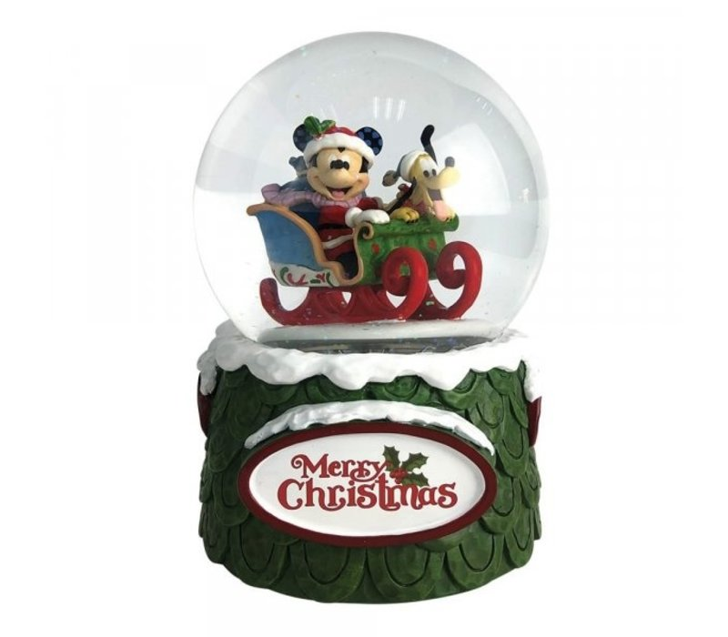 Disney Traditions - Laughing All the Way (Mickey and Pluto Christmas Waterball)