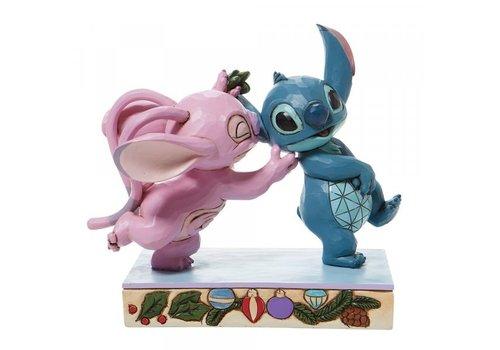 Disney Traditions Mistletoe Kiss (Stitch and Angel with Mistletoe) - Disney Traditions