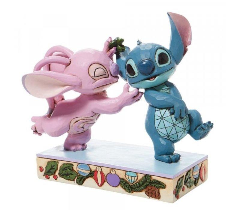 Disney Traditions - Mistletoe Kiss (Stitch and Angel with Mistletoe)