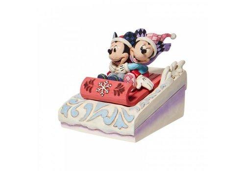 Disney Traditions Sledding Sweethearts (Mickey & Minnie Sledding) - Disney Traditions
