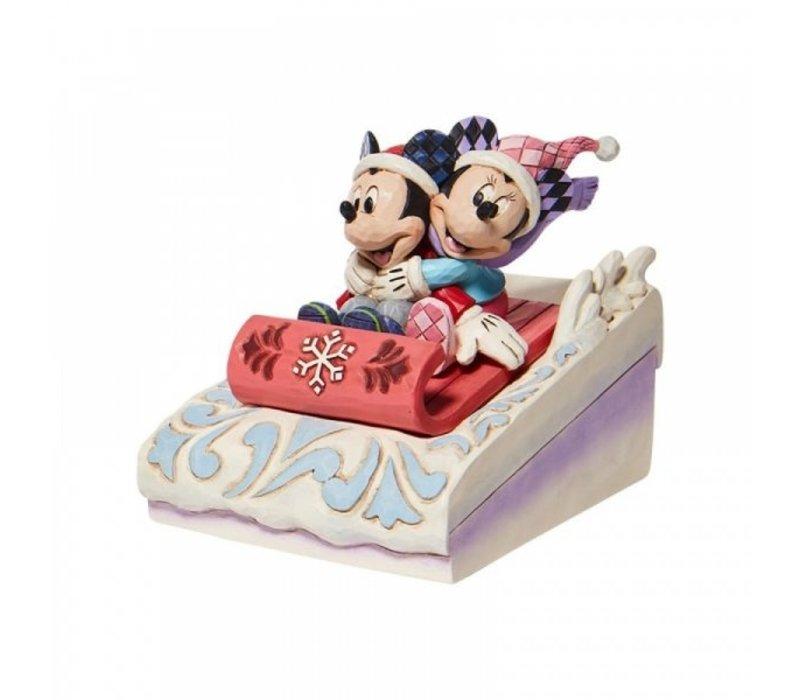 Disney Traditions - Sledding Sweethearts (Mickey & Minnie Sledding)